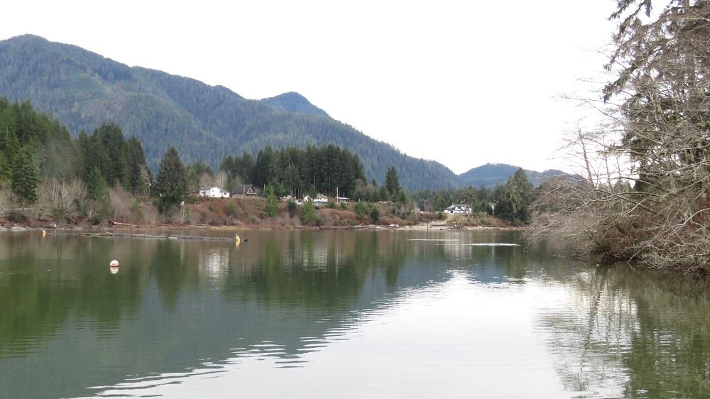Ditidaht Village, Nitinat Lake, Vancouver Island, BC Coastal Region
