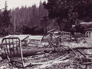 Forbes Lodge Burned Down, BC Coastal Region, Campbell River, Vancouver Island, BC