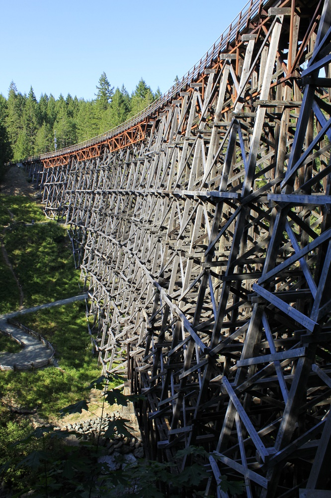 Kinsol Trestle, Trestles, Parks, Vancouver Island, Pacific Northwest.