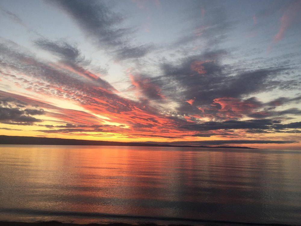 Haida Gwaii sunset.