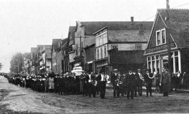 The funeral of Albert ( Ginger ) Goodman