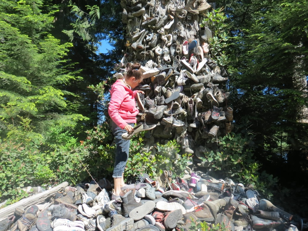 Shoe Tree, Holberg, Vancouver Island, BC