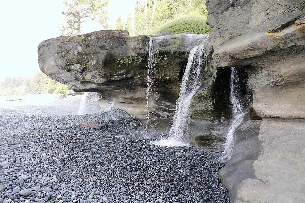 Sandcut Beach Falls, Vancouver Island, BC